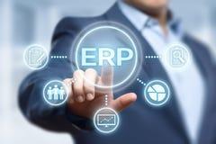 Conceito da tecnologia do Internet do negócio da gestão de Empresa Recurso Planeamento ERP Incorporado Empresa Fotos de Stock Royalty Free