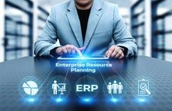 Conceito da tecnologia do Internet do negócio da gestão de Empresa Recurso Planeamento ERP Incorporado Empresa imagens de stock royalty free