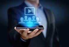 Conceito da tecnologia do Internet do negócio do treinamento do ensino eletrónico de Webinar Fotos de Stock