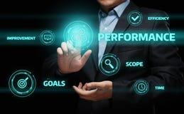 Conceito da tecnologia do negócio da melhoria da eficiência do gerenciamento de desempenho fotografia de stock royalty free