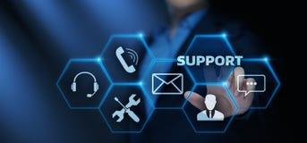 Conceito da tecnologia do negócio do Internet do serviço ao cliente do centro de suporte laboral fotos de stock royalty free