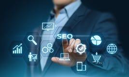 Conceito da tecnologia do negócio do Internet do Web site do tráfego da classificação de SEO Search Engine Optimization Marketing imagens de stock