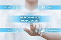 Conceito da tecnologia do negócio da melhoria da eficiência do gerenciamento de desempenho imagem de stock