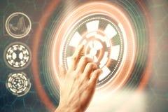 Conceito da tecnologia, dos meios e do negócio Fotografia de Stock Royalty Free