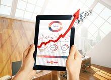 Conceito da tecnologia e das vendas Foto de Stock Royalty Free