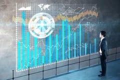 Conceito da tecnologia e da finança Fotos de Stock