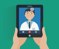 Conceito da telemedicina - consulta em linha do doutor Imagem de Stock Royalty Free