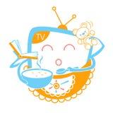 Conceito da televisão da criança Imagem de Stock Royalty Free