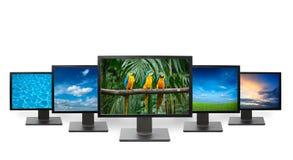 Conceito da televisão da HDTV Imagem de Stock