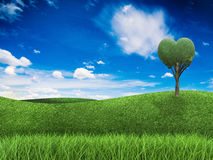 Conceito da terra do amor Fotos de Stock