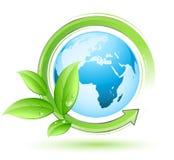 Conceito da terra verde Ilustração Stock