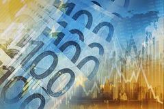 Conceito da troca de dinheiro do Euro ilustração stock