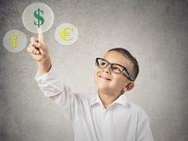 Conceito da troca de moeda Fotografia de Stock