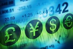 Conceito da troca de moeda dos estrangeiros Fotografia de Stock