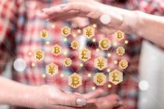 Conceito da troca de moeda foto de stock