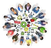 Conceito da unidade da roda denteada de Team Teamwork Support Success Collaboration Foto de Stock
