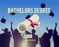 Conceito da universidade da graduação do sucesso do grau de licenciado imagem de stock royalty free