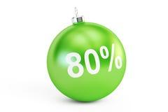 Conceito da venda do Natal, rendição 3D de 80% Fotos de Stock