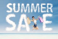 Conceito da venda especial do verão imagens de stock royalty free