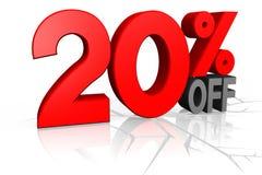 Conceito da venda, 20% fora Imagens de Stock