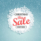 Conceito da venda grande do Natal, vetor ilustração royalty free