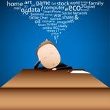 Conceito da vida quotidiana de Imagine do homem de negócios Foto de Stock Royalty Free