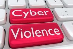 Conceito da violência do Cyber Foto de Stock Royalty Free