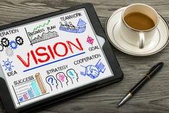 Conceito da visão com elementos do negócio imagens de stock royalty free