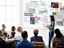 Conceito da visão da estratégia da proposta da missão do conceito das ideias Imagens de Stock