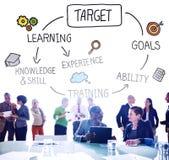 Conceito da visão da realização do objetivo da aspiração do alvo Imagens de Stock