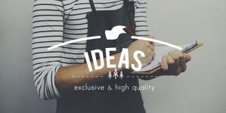 Conceito da visão da sugestão da ação da estratégia do plano das ideias Imagem de Stock Royalty Free