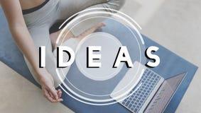 Conceito da visão das táticas da estratégia do plano de desenvolvimento da ação das ideias Imagens de Stock Royalty Free