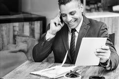 Conceito da visão de Growth Motivation Target do homem de negócios Fotografia de Stock Royalty Free
