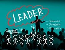 Conceito da visão de Leadership Management Responsibility do líder fotografia de stock