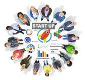 Conceito da visão de Team Start Up Creativity Goals dos povos da diversidade Imagem de Stock Royalty Free