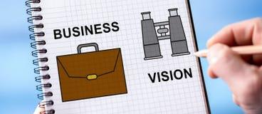 Conceito da visão do negócio em um bloco de notas foto de stock royalty free