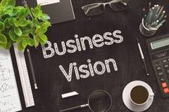Conceito da visão do negócio no quadro preto rendição 3d Foto de Stock Royalty Free