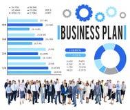 Conceito da visão do planeamento da estratégia do plano de negócios imagem de stock
