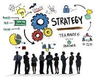 Conceito da visão do crescimento dos trabalhos de equipa das táticas da solução da estratégia Imagem de Stock