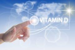 Conceito da vitamina D Fotografia de Stock Royalty Free