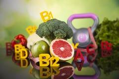 Conceito da vitamina, saúde e conceito da aptidão Foto de Stock