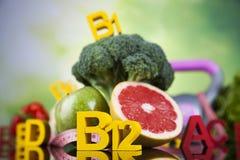 Conceito da vitamina, saúde e conceito da aptidão Imagem de Stock