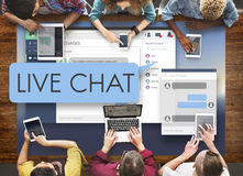 Conceito da Web de Live Chat Chatting Communication Digital imagens de stock royalty free