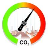 Conceito das alterações climáticas e do aquecimento global Imagens de Stock