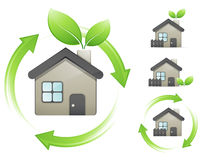 Conceito das casas verdes Ilustração Royalty Free
