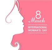 Conceito das celebrações do dia das mulheres felizes ilustração stock