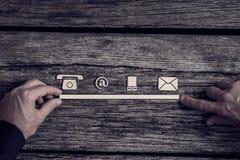 Conceito das comunicações com ícones Imagem de Stock