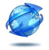 Conceito das comunicações globais ilustração royalty free