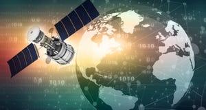 Conceito das comunicações satélites ilustração royalty free