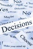 Conceito das decisões Fotografia de Stock Royalty Free